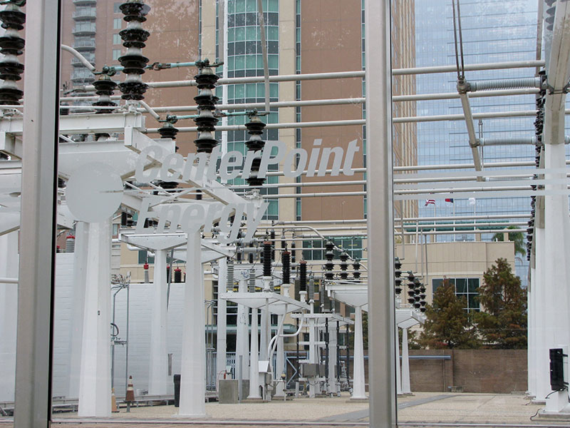 CenterPoint power station in downtown Houston