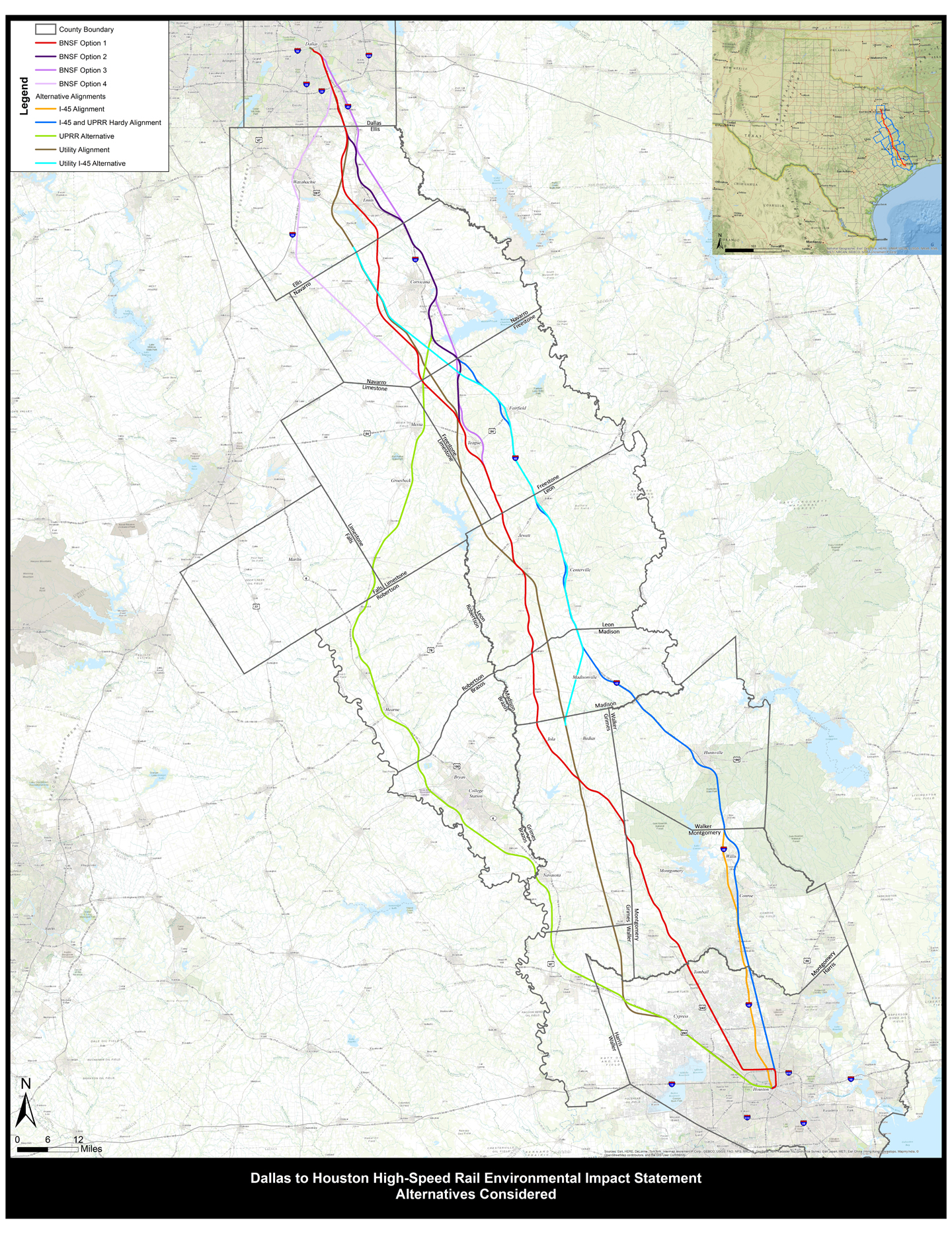 Houston And Dallas Map.Rural Landowners Are Concerned About High Speed Rail Project