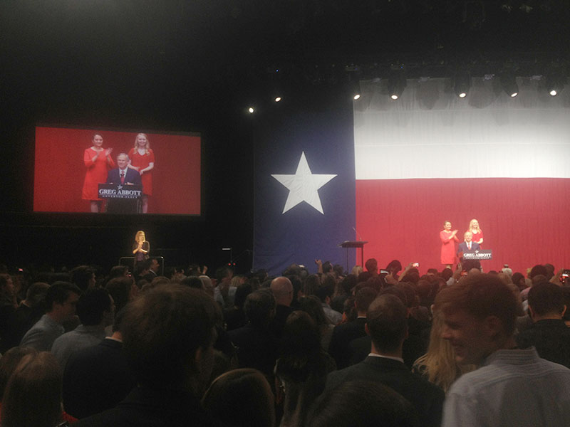 Abbott during his victory speech