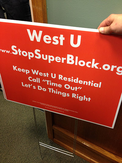 Stop super block sign