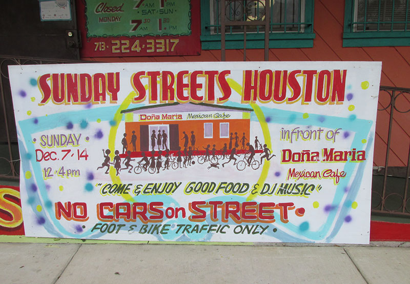 sunday streets sign