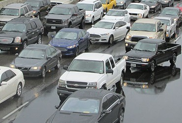 automobile congestion on highway