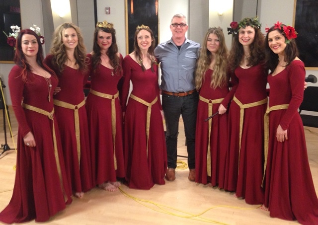 The Mediaeval Baebes in the Geary Studio with St.John Flynn