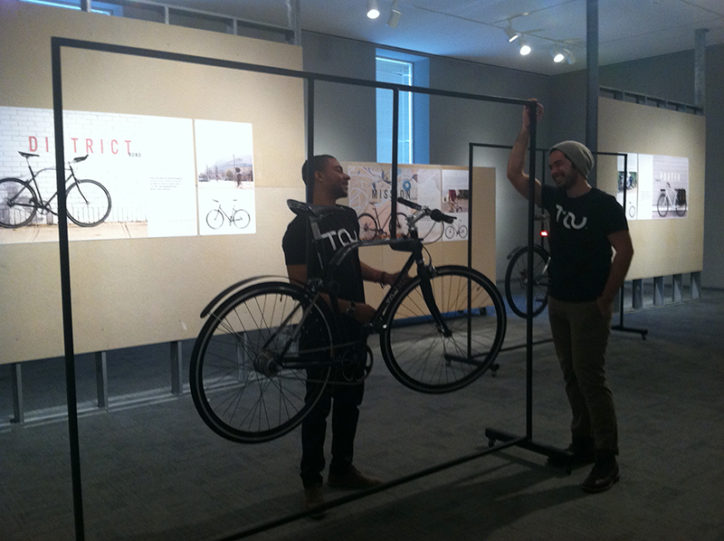 Carlyle Yarbough and Brian Chui with bikes