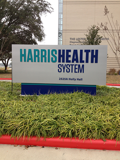 Harris Health System sign