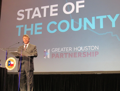 Harris County's top elected official gave the annual State of the County Address. Among the issues Judge Ed Emmett discussed were transportation, criminal justice and healthcare.