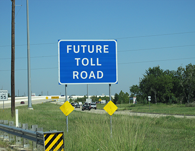 future toll road sign