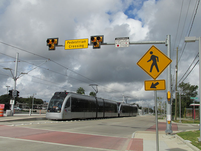 Testing is underway along the Southeast Line at the Palm Center Station on Griggs at MLK