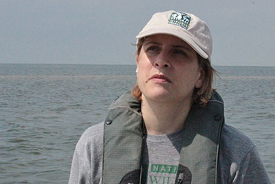 Lacey McCormick on a boat