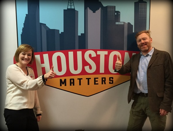 Jon Gnarr poses with Houston Matters producer Edel Howlin.