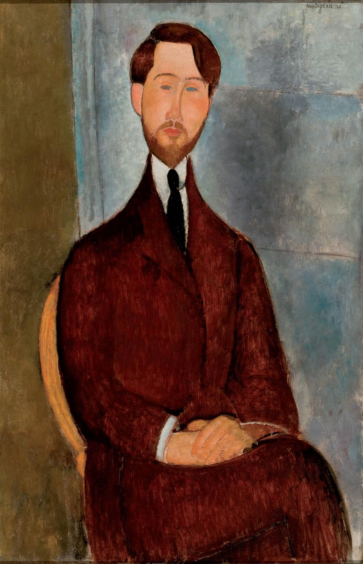 Amedeo Modigliani's Portrait of Leopold Zborowski.