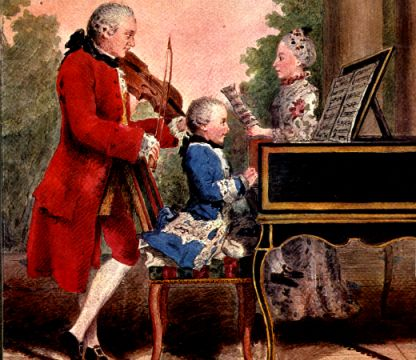 Leopold, Wolfgang, and Maria Anna Mozart on tour in 1763
