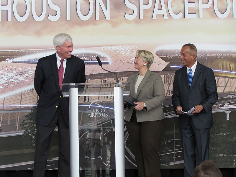 receive Ellington Spaceport license from FAA