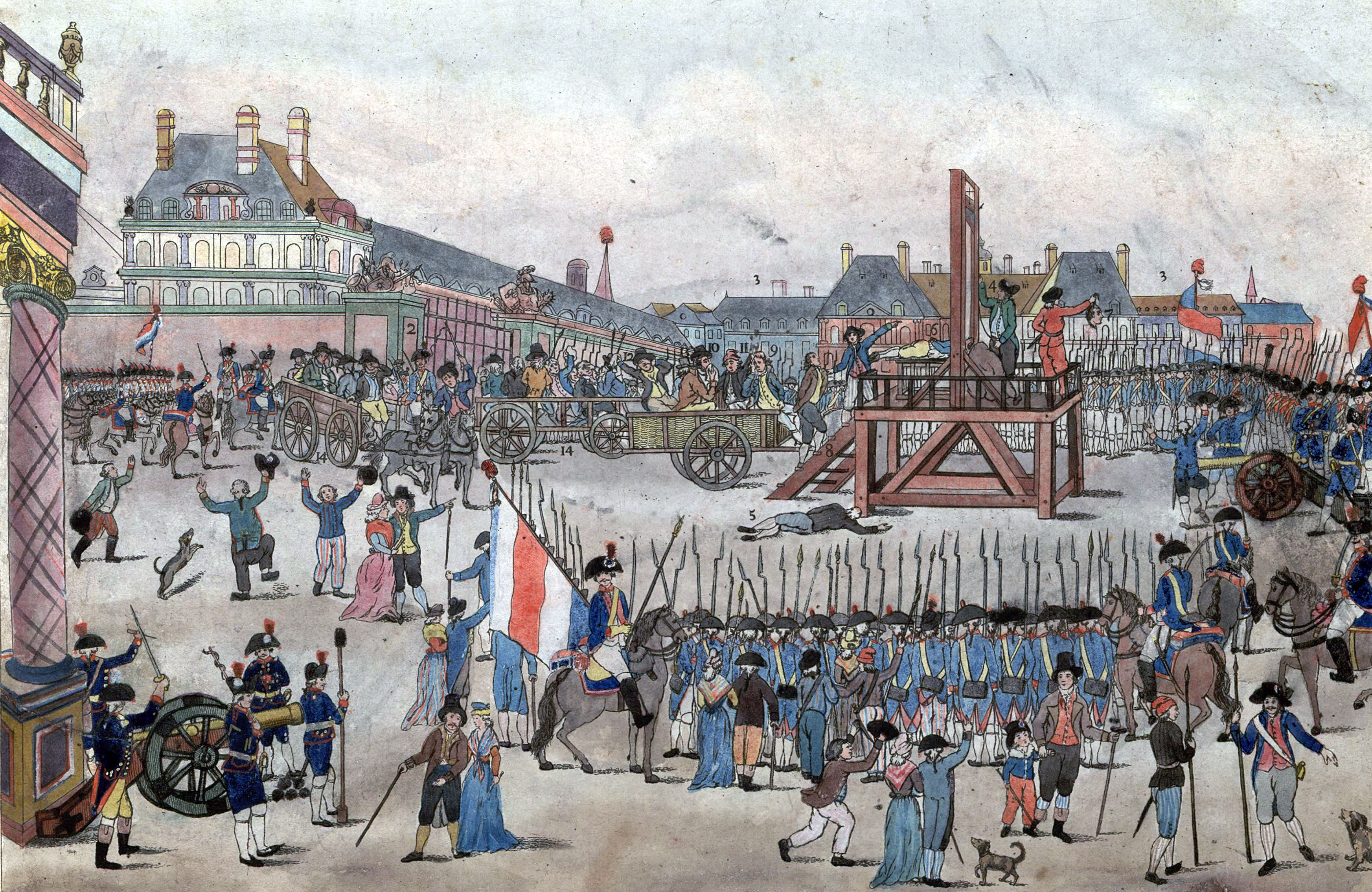 The execution of Maximilian Robespierre in 1794