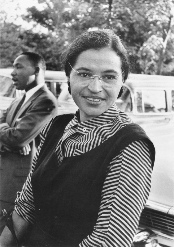 Rosa Parks and Dr. Martin Luther King, Jr.