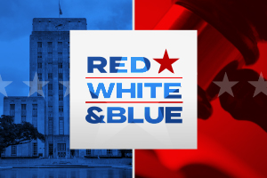 Red, White, and Blue banner