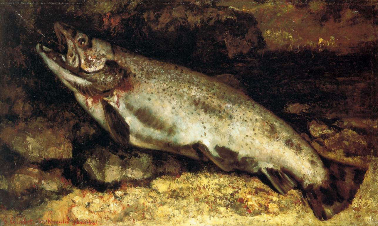 Gustave Courbet's painting The Trout
