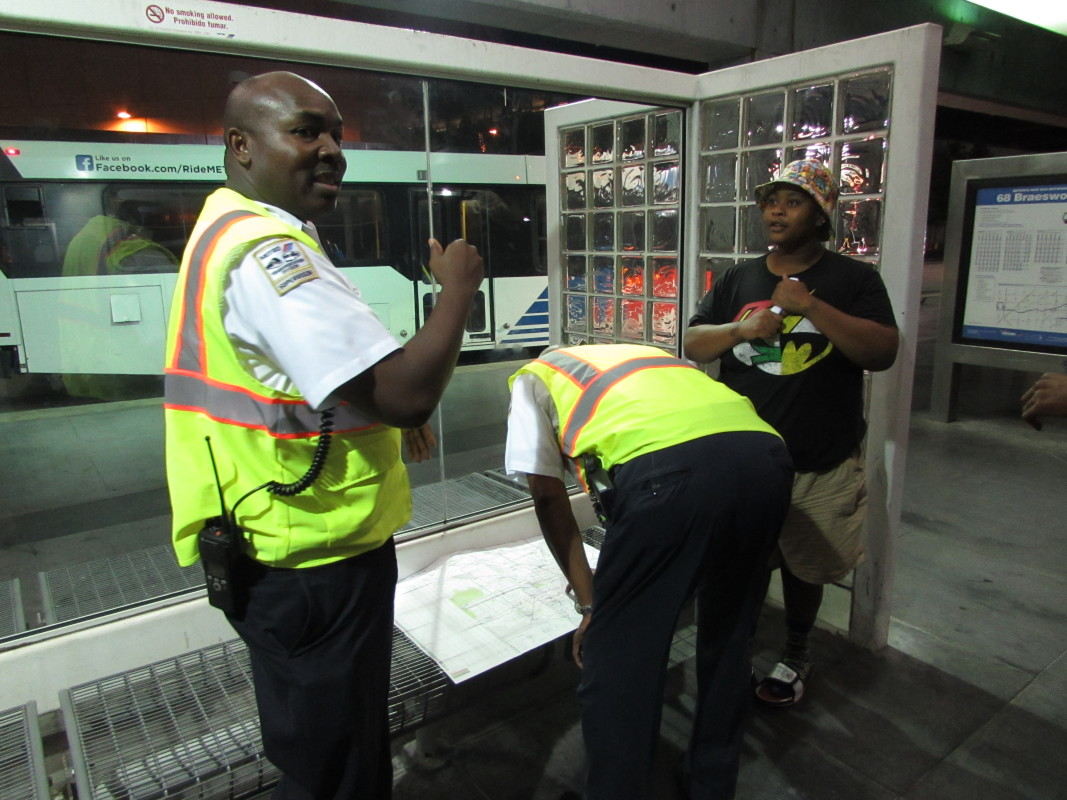 Photo of Metro employees were on hand