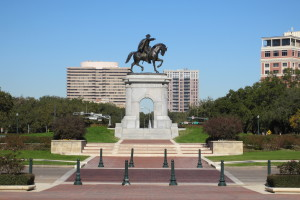 Picture of the Sam Houston Statue in Houston's Hermann Park
