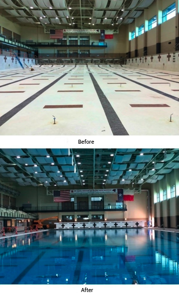 Uh moment pool facilities houston public media for Public indoor swimming pools houston