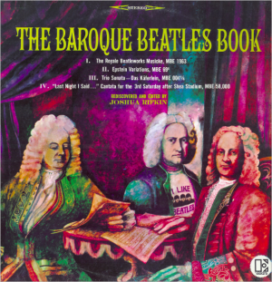 Baroque Beatles Book album cover, with illustrations of Baroque composers.