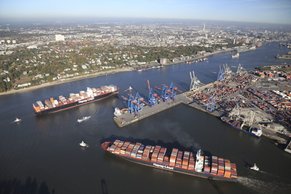 Port of Hamburg, aerial view