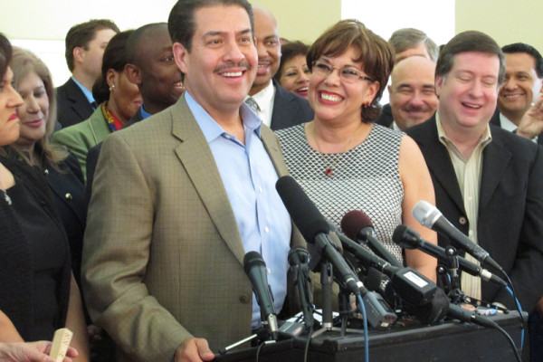 Harris County Sheriff Adrian Garcia announced his candidacy for Houston Mayor Wednesday, May 6, 2015 at the Lindale Park Civic Club.