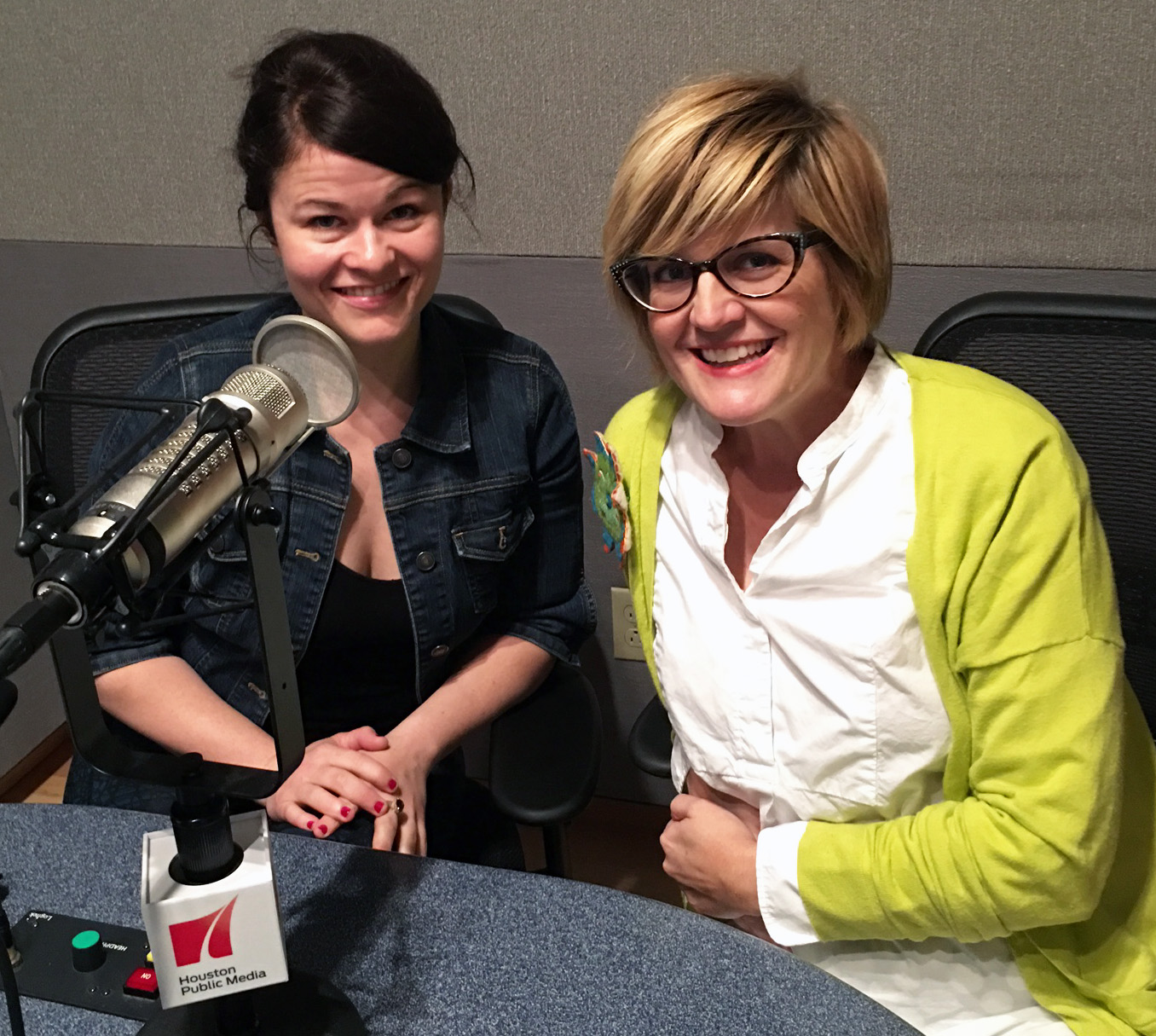 In studio picture of Bree Welch (l) and Julia Traber (2) from Classical Theatre Company's production of Shakespeare's Henry V