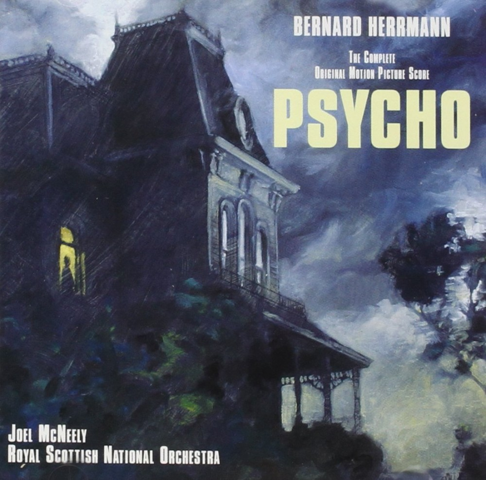 Cover art for the film score to Psycho.