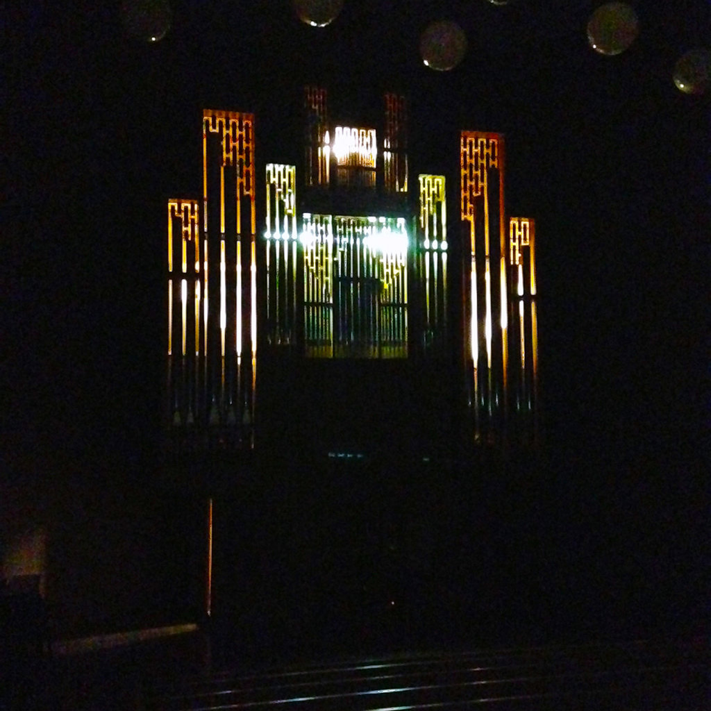 Organ in the dark. Extra creepy!