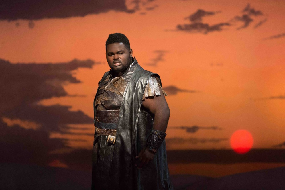 "John Holiday as Caesar in the 2015 Glimmerglass Festival production of Vivaldi's ""Cato in Utica"""