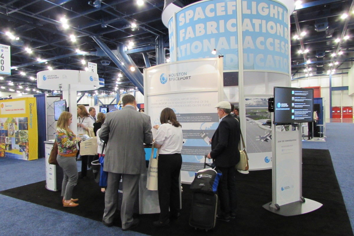 Houston Spaceport booth at Space Com 2015 in Houston