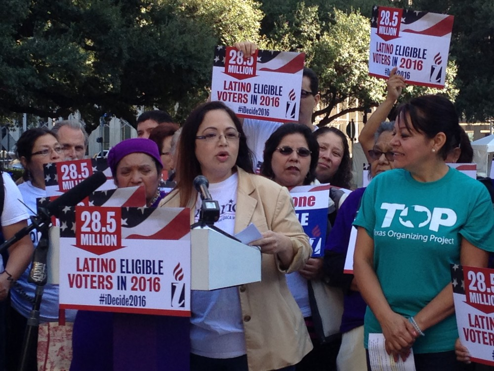 Elsa Caballero is President of SEIU Texas, one of the organizations that are lobbying for the City of Houston to grant municipal IDs to undocumented immigrants.