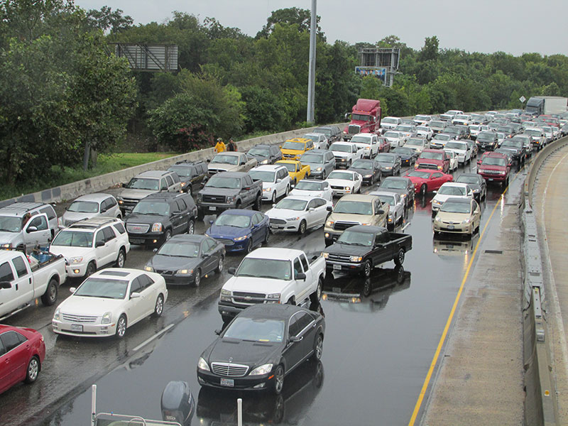 cars congested in traffic