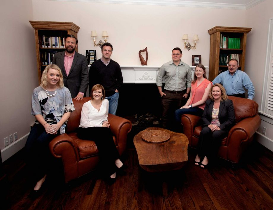 Members of the Irish Network Houston, from left, Aoibheann Hughes Elder, Chris Bohill, Edel Howlin, Eddie Klennher, Brendan Sullivan, Kate Corrigan, Karen Down and David Millar.