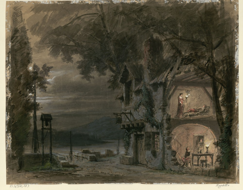 Rigoletto set design by Philippe Chaperon