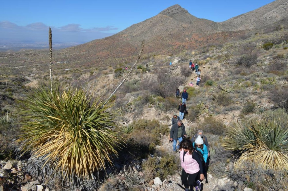 Picture of hikers in the Franklin Mountains