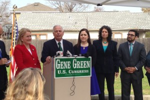 Congressman Gene Green accepts the endorsement of several Texas lawmakers in his bid to be re-elected to represent Texas' 29th Congressional District in the House of Representatives.
