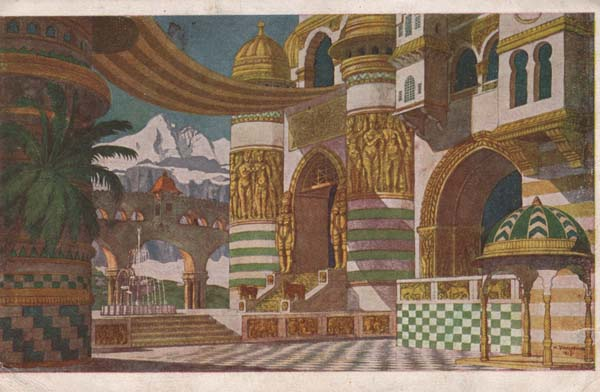 1905 set designed for Ruslan and Ludmilla by Ivan Bilibin