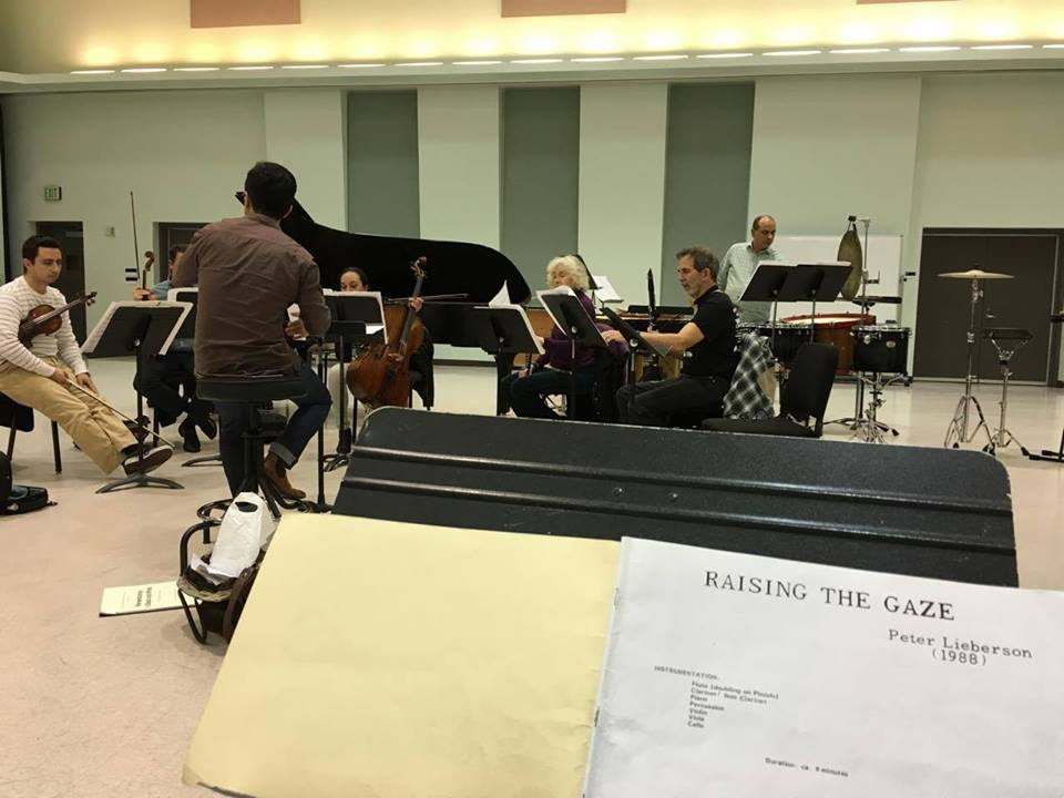 "Musiqa rehearsal of Peter Lieberson's ""Raising the Gaze"""