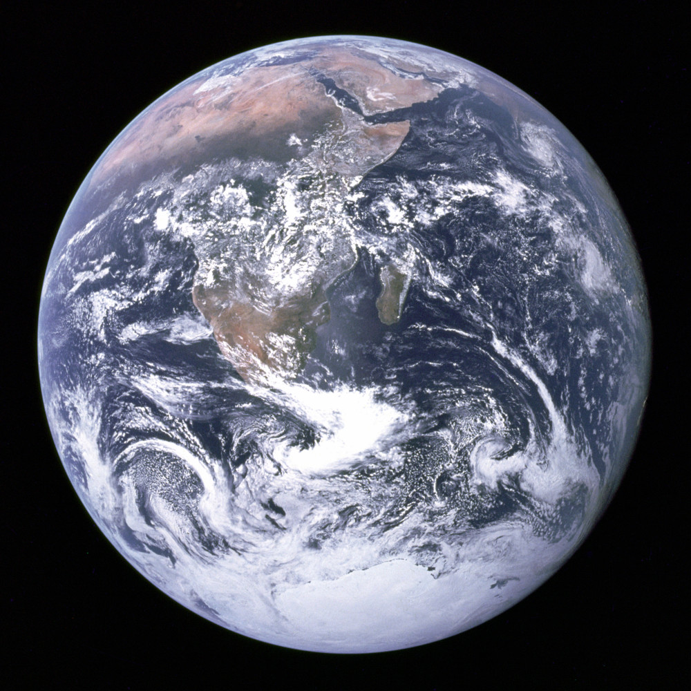 earth as seen from space in 1972