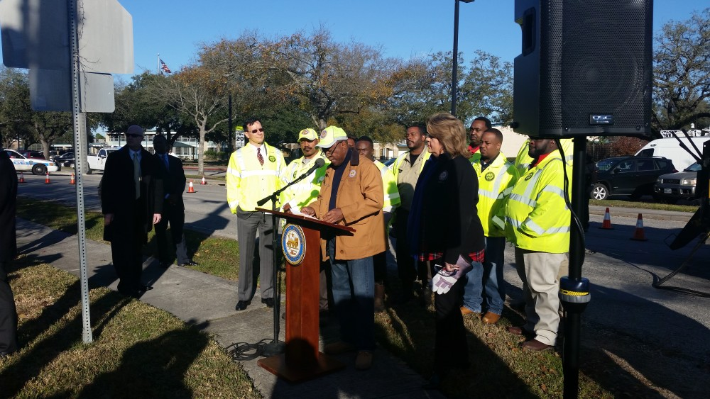 Mayor Turner, with City of Houston workers.