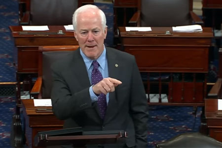 Cornyn speaking on Senate floor