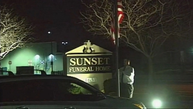Sunset Funeral Home sign