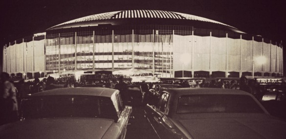 The Astrodome in 1965. Photo: Ted Rozumalski - The Sporting News Archives/Wikipedia Commons.