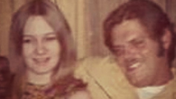 Frankie Ortega's mother pictured in the 1970s with the man she married at age 14. He was 21. Photo Courtesy: Frankie Ortega.