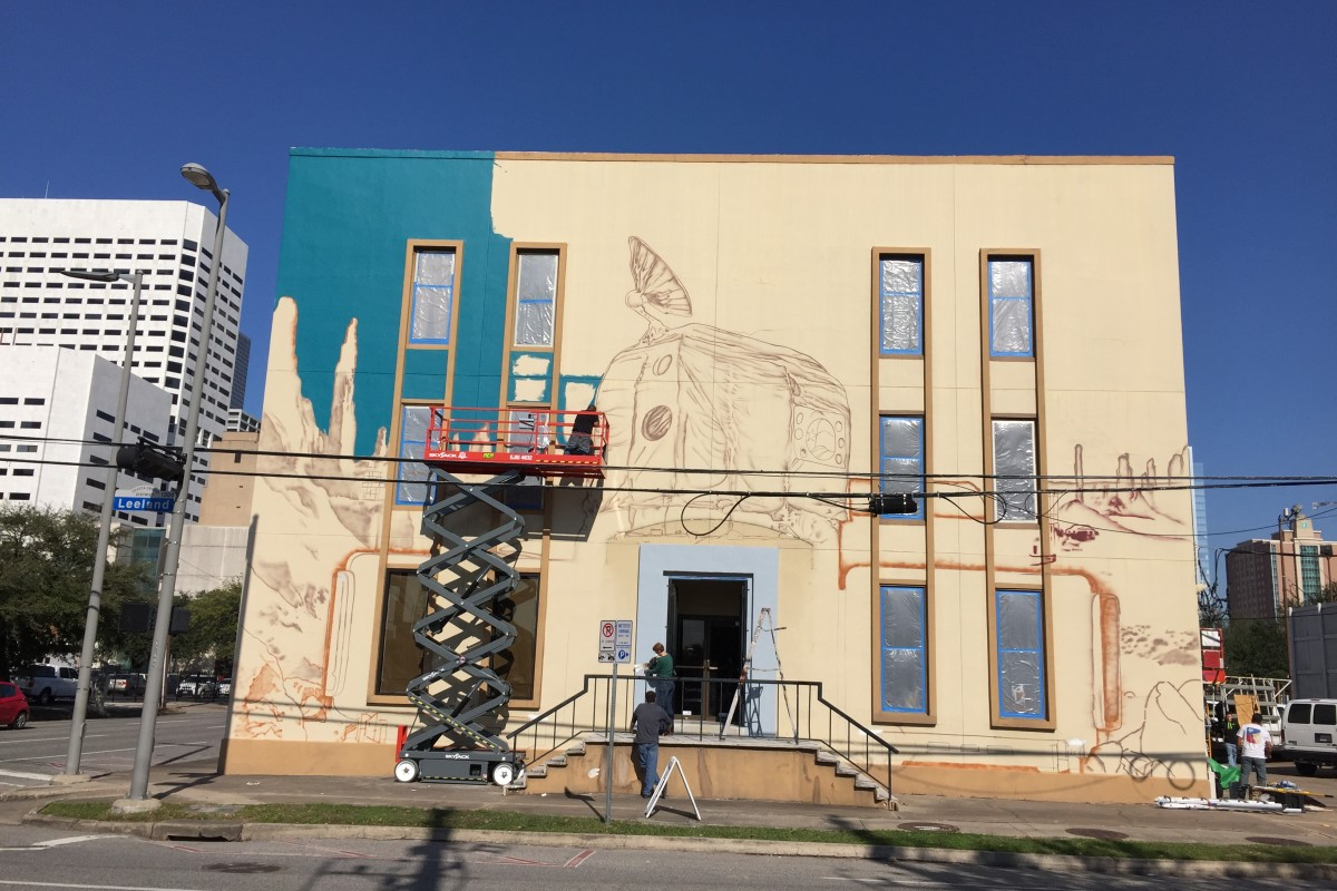 Houston Auto Direct >> New Mural Pays Homage To Space City With Cosmic Canine – Houston Public Media