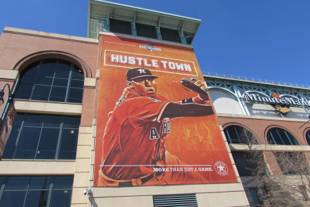 Signage at Minute Maid Park.