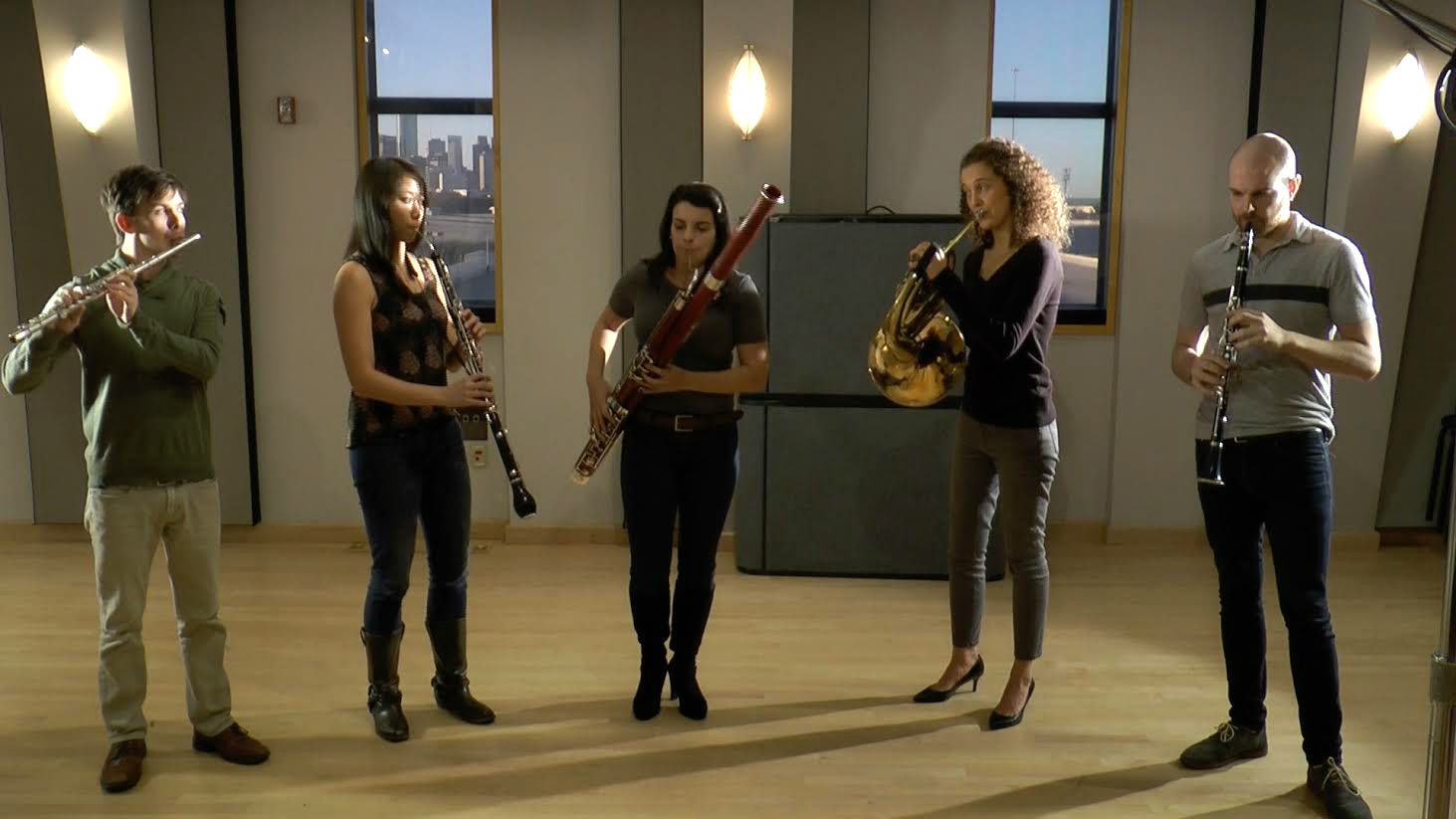 WindSync Performs in the Geary Studio