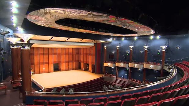 The Moores Opera House  on the University of Houston campus.